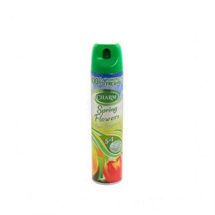 Charm Air Freshener Spring Flowers 240Ml <br> Pack size: 12 x 240ml <br> Product code: 543164