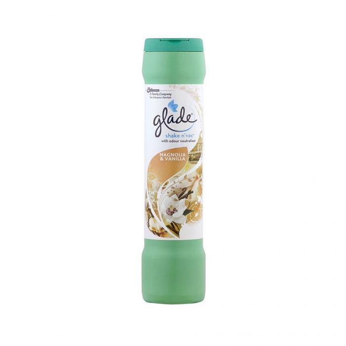 Glade Shake N Vac Magnolia And Vanilla 500G <br> Pack size: 12 x 500g <br> Product code: 558820