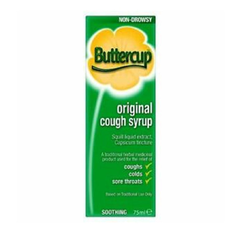 Buttercup Cough Syrup 75Ml Original <br> Pack size: 6 x 75ml <br> Product code: 191740
