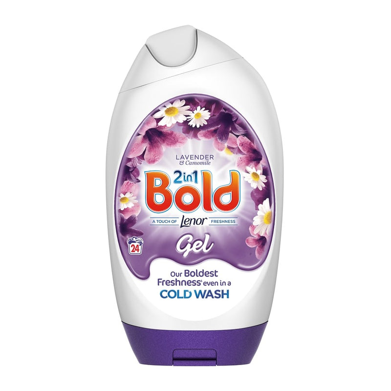 Bold Washing Gel Lavender & Camomile 888ml <br> Pack size: 6 x 888ml <br> Product code: 482151