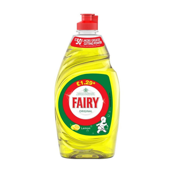 Fairy Washing Up Liquid Lemon 433ml (PM £1.29) <br> Pack size: 10 x 433ml <br> Product code: 472031
