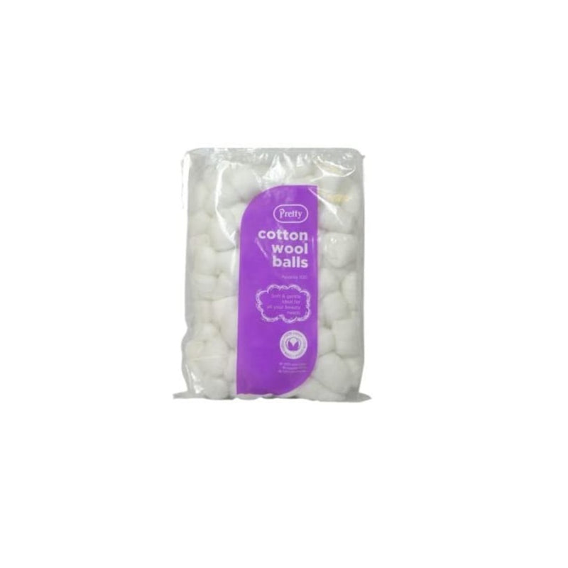 Pretty Cotton Wool Balls White 100s 50g <br> Pack size: 12 x 50g <br> Product code: 230640