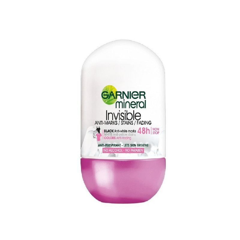 Garnier Roll On 50Ml Invisible Anti Marks <br> Pack size: 6 x 50ml <br> Product code: 274771