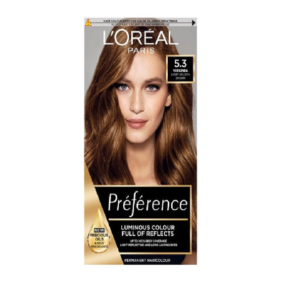 L'Oreal Recital Virginia 5.3 <br> Pack size: 3 x 1 <br> Product code: 204910