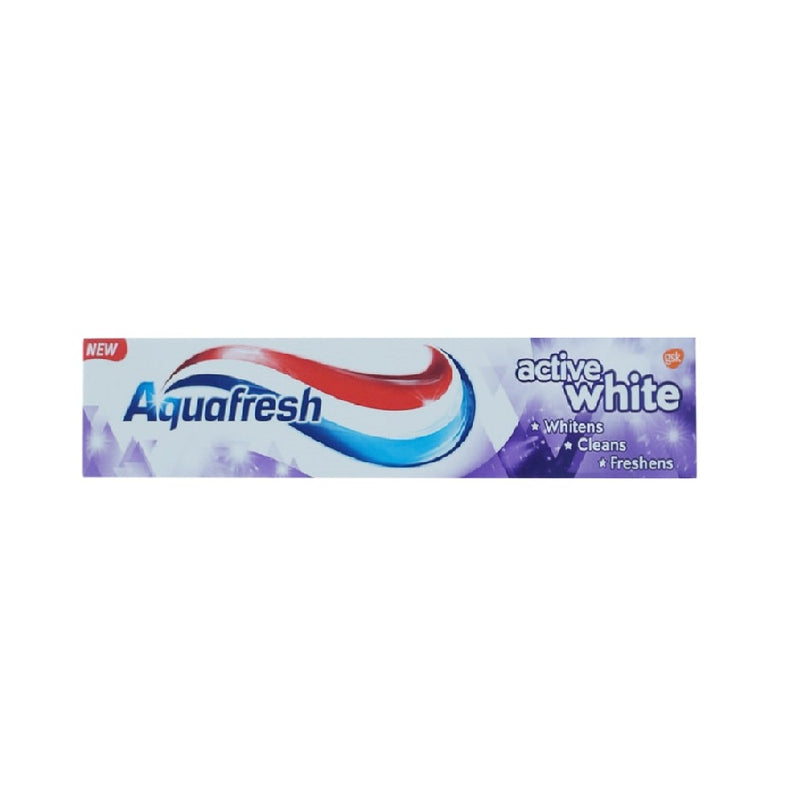Aquafresh Toothpaste 125Ml Active White <br> Pack size: 12 x 125ml <br> Product code: 281372