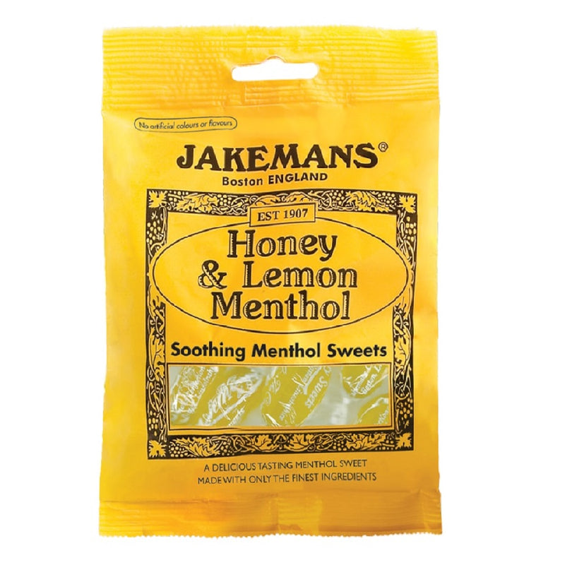 Jakemans Honey & Lemon Sweets 100G <br> Pack size: 10 x 100g <br> Product code: 193091