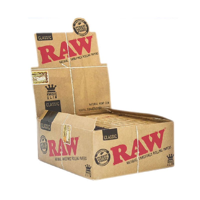 Raw King Size Slim Classic <br> Pack size: 50 x 1 <br> Product code: 146218