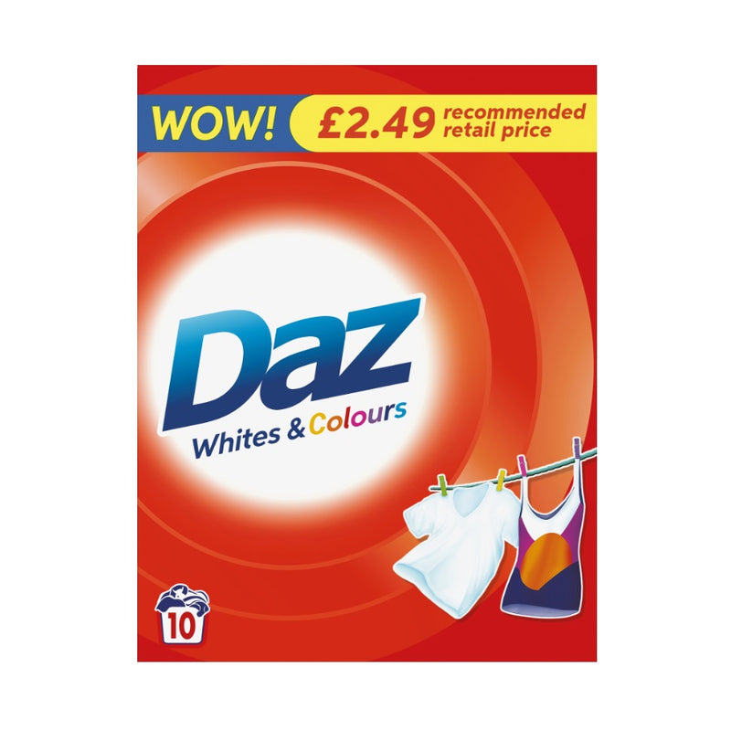 Daz Regular Washing Powder 650g (PM £2.49) <br> Pack size: 6 x 650g <br> Product code: 483180