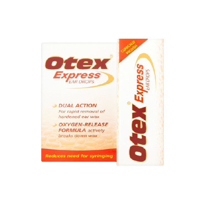 Otex Express Ear Drops 10M Gsl <br> Pack size: 6 x 10ml <br> Product code: 125621