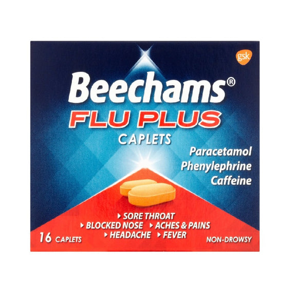Beechams Flu-Plus Caps 16'S <br> Pack size: 6 x 16s <br> Product code: 191050