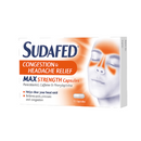 Sudafed Headache & Congestion Caps 16'S <br> Pack size: 6 x 16s <br> Product code: 195981