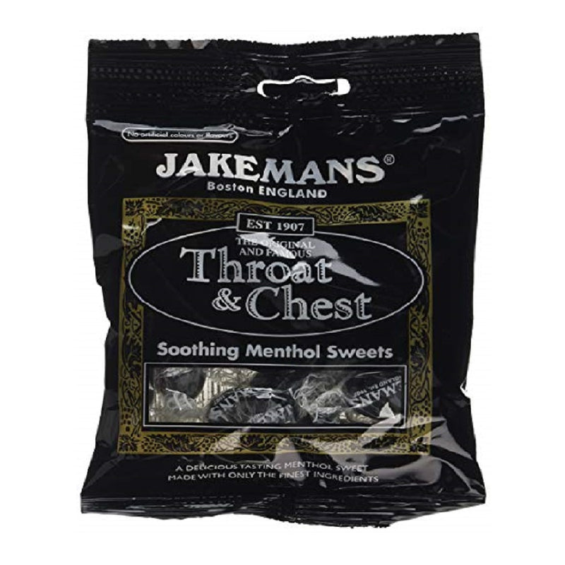 Jakemans Throat & Chest Sweets 100G <br> Pack size: 10 x 100g <br> Product code: 193090
