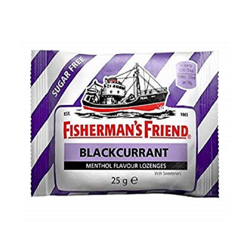 Fisherman's Friend 25Gm Blackcurrent <br> Pack size: 24 x 25g <br> Product code: 192590