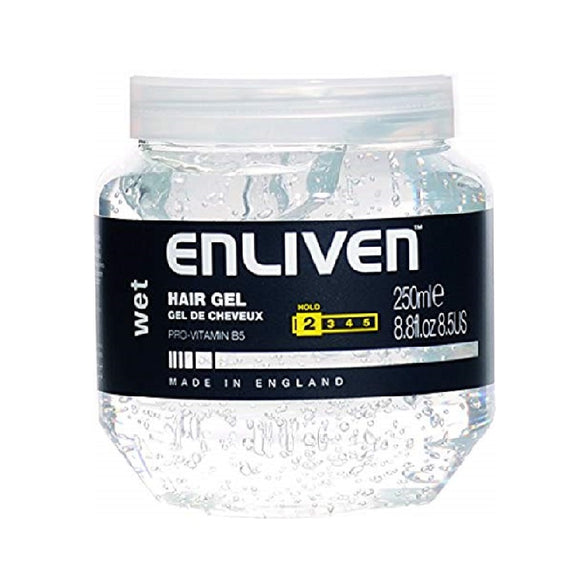Enliven Hair Gel 250Ml Wet <br> Pack size: 12 x 250ml <br> Product code: 198732