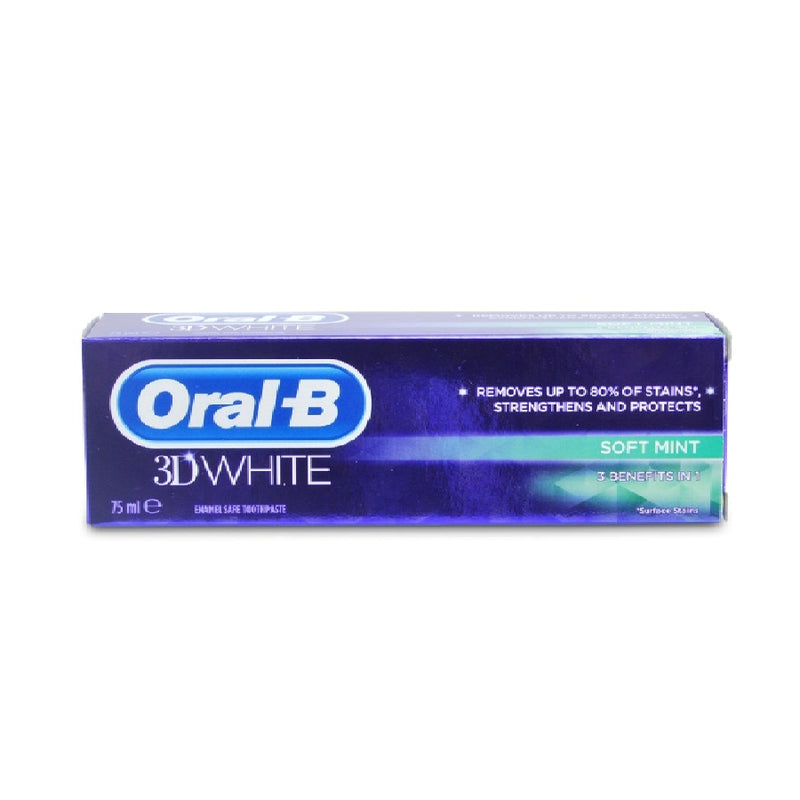 Oral B Toothpaste 75Ml 3D White Softmint <br> Pack size: 12 x 75ml <br> Product code: 285761