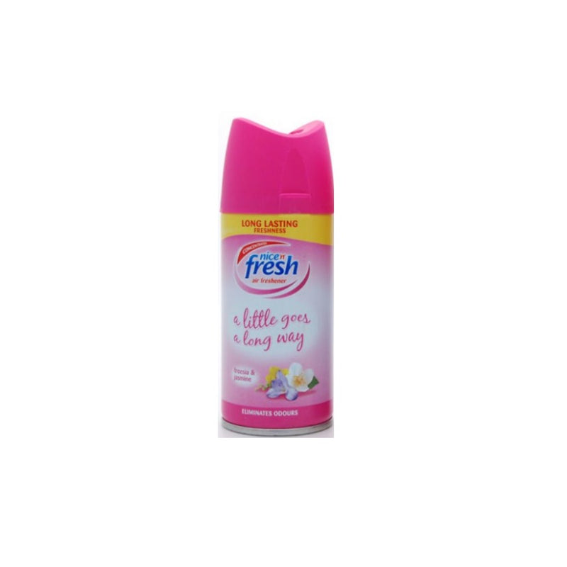 Nice N' Fresh Air Freshener Freesia & Jasmine 150ml <br> Pack size: 6 x 150ml <br> Product code: 542227