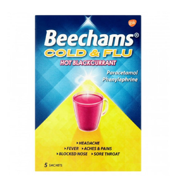 Beechams Cold&Flu BlackCurrant 5'S <br> Pack size: 6 x 5s <br> Product code: 191134