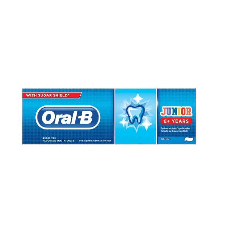 Oral B Toothpaste 75Ml Kids Junior 6+ Years <br> Pack size: 6 x 75ml <br> Product code: 303124
