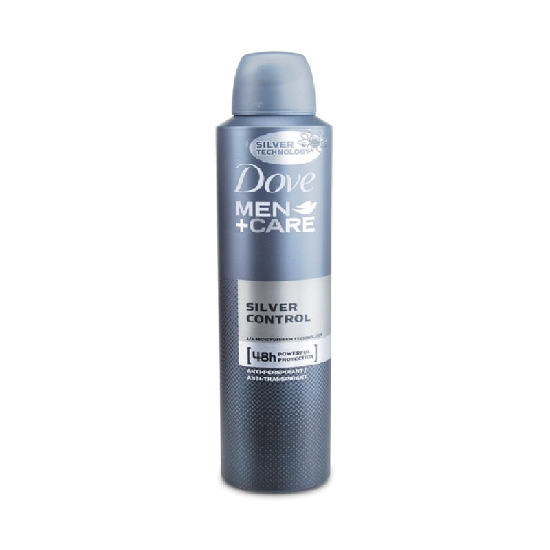Dove Mens Antiperspirant 150M Silver Contro <br> Pack size: 6 x 150ml <br> Product code: 271178