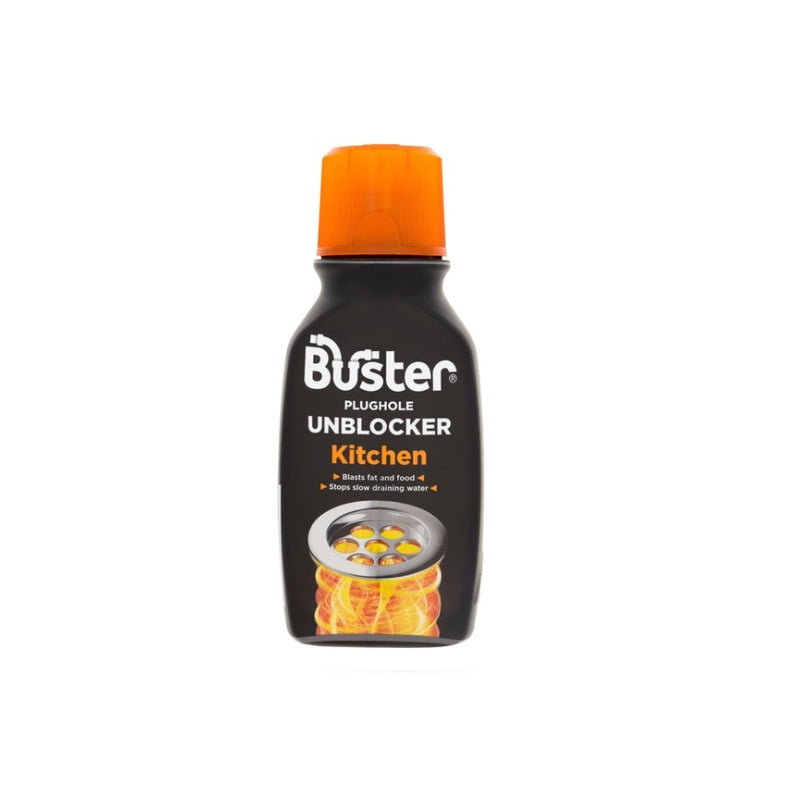 Buster Kitchen Plughole Unblocker 200g <br> Pack size: 6 x 200g <br> Product code: 552001