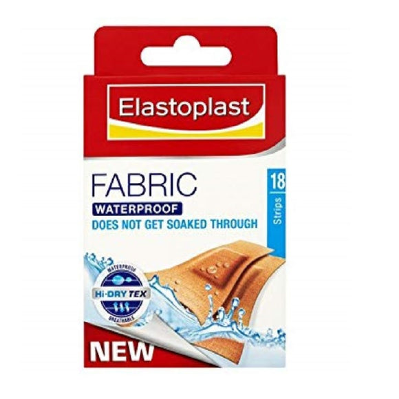 Elastoplast Fabric Waterproof 18'S <br> Pack size: 10 x 18s <br> Product code: 102042