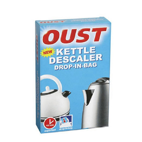 Oust Kettle Descale Drop-In-Bag <br> Pack size: 6 x 1 <br> Product code: 558249