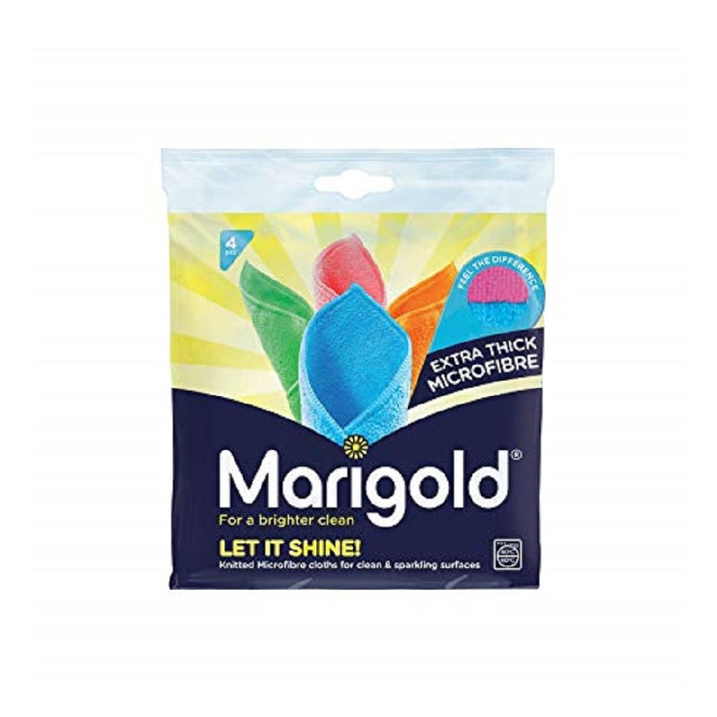 Marigold Let It Shine Microfibre Cloth 4'S <br> Pack size: 5 x 4s <br> Product code: 496914