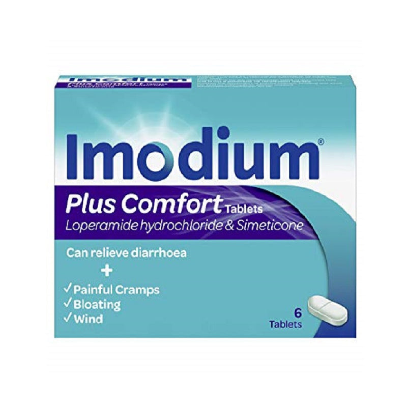 Imodium Caps 6'S Plus Comfort <br> Pack size: 6 x 6s <br> Product code: 124672