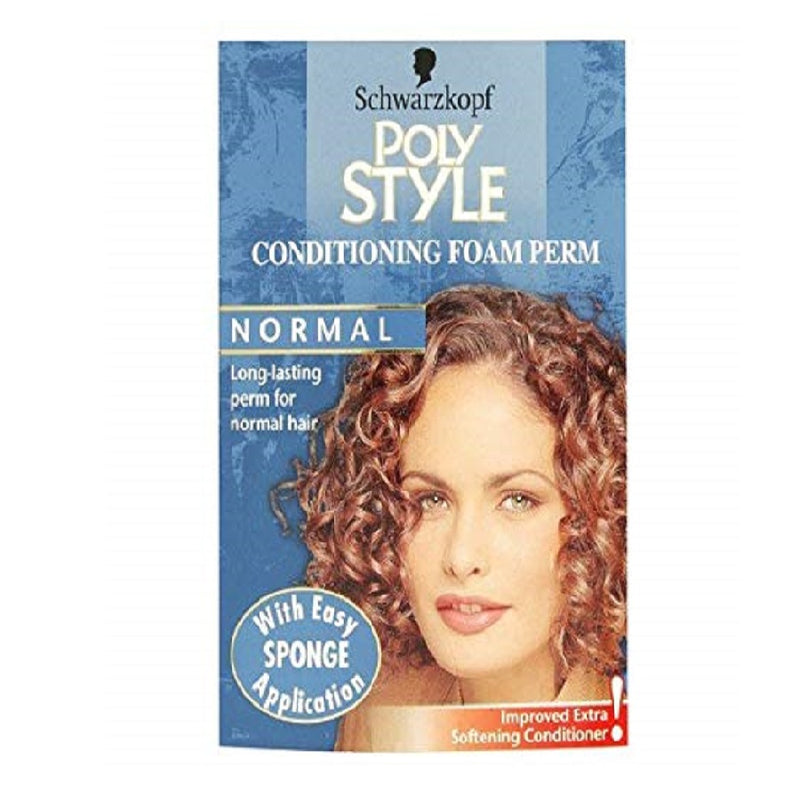 Schwarzkopf Poly Style Foam Perm Normal <br> Pack size: 3 x 1 <br> Product code: 195180