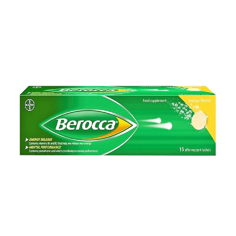 Berocca Vitamin B 15s <br> Pack size: 4 x 15s <br> Product code: 121251