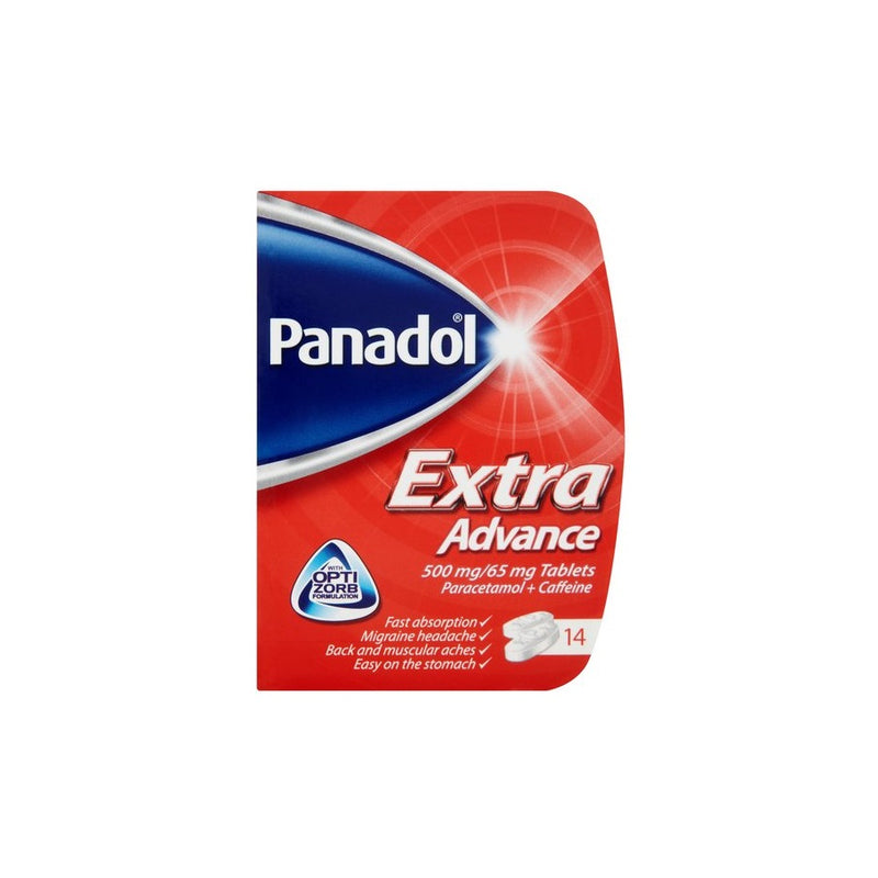 Panadol Extra Advance Tablets 14s <br> Pack size: 12 x 14s <br> Product code: 175661