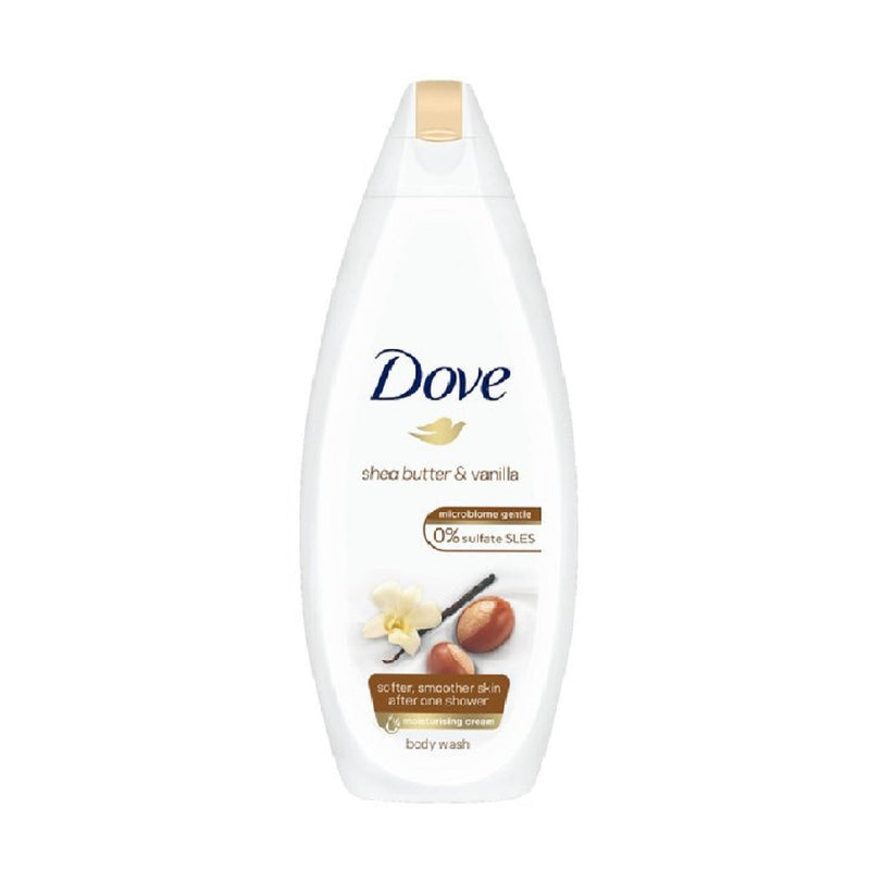 Dove Bodywash 250Ml Shea Butter and Vanilla <br> Pack size: 6 x 250ml <br> Product code: 312884
