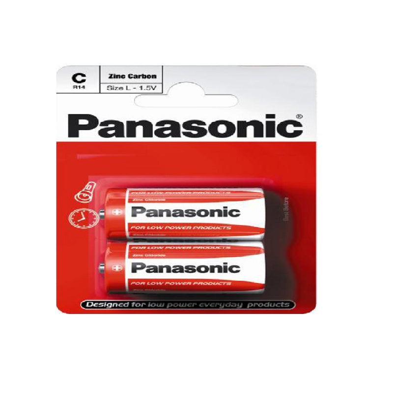 Battery R14 Panasonic 2'S C <br> Pack size: 12 x 2 <br> Product code: 531308