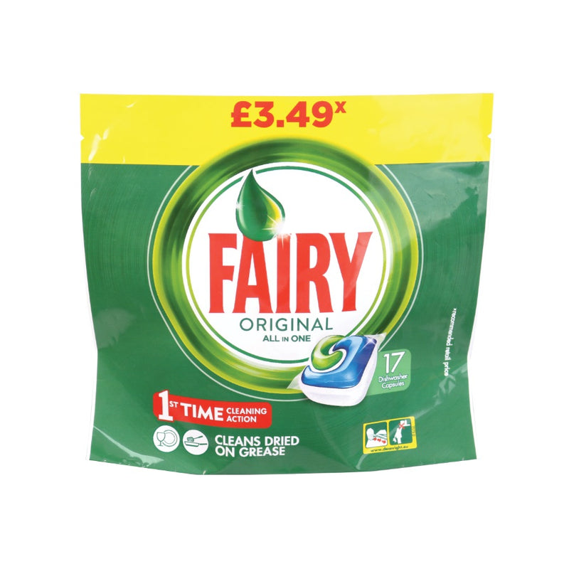 Fairy All In One Dishwasher Capsules 17s (PM £3.49) <br> Pack size: 5 x 17s <br> Product code: 472771