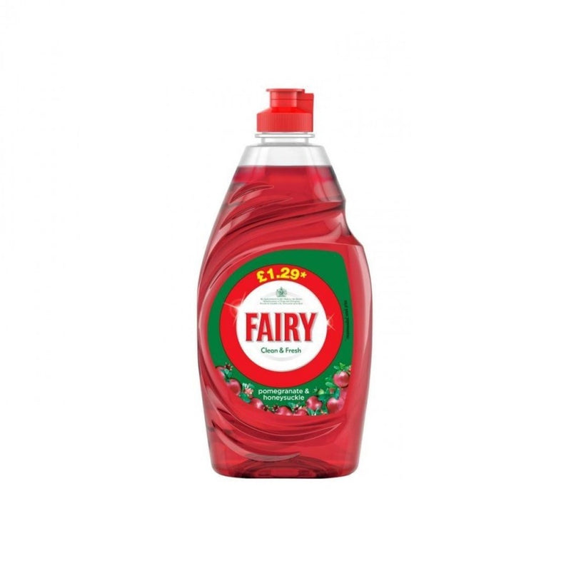 Fairy Washing Up Liquid Pomegranate & Honeysuckle 433ml (PM £1.29) <br> Pack size: 10 x 433ml <br> Product code: 472032