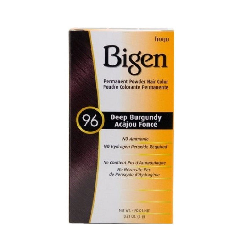 Bigen Hair Colour 96 Deep Burgundy <br> Pack size: 1 x 1 <br> Product code: 200298