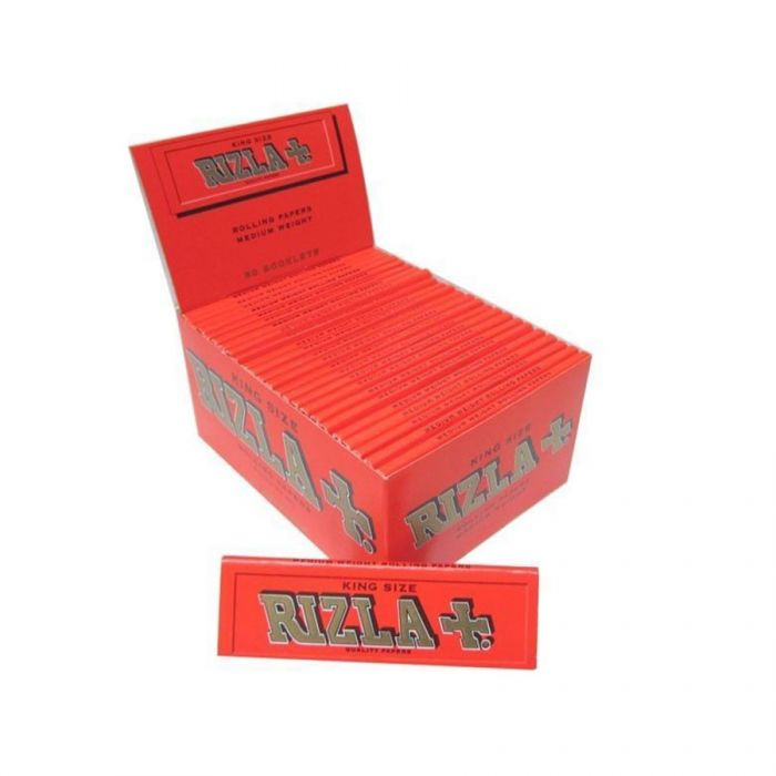 Rizla King Size Red Rolling Papers <br> Pack size: 1 x 50 <br> Product code: 146202