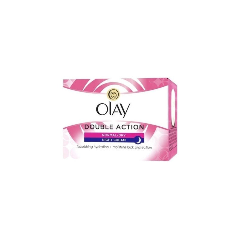 Olay Double Action Night Cream Normal 50Ml <br> Pack Size: 4 x 50ml <br> Product code: 225110