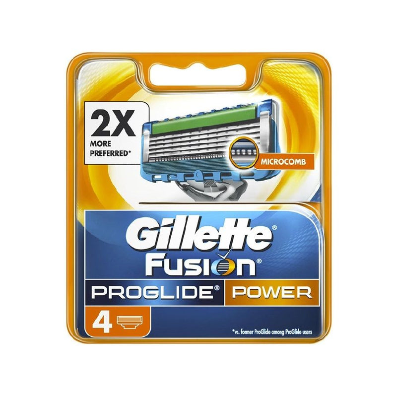 Gillette Fusion Proglide Power Blades 4'S <br> Pack Size: 10 x 4s <br> Product code: 251850