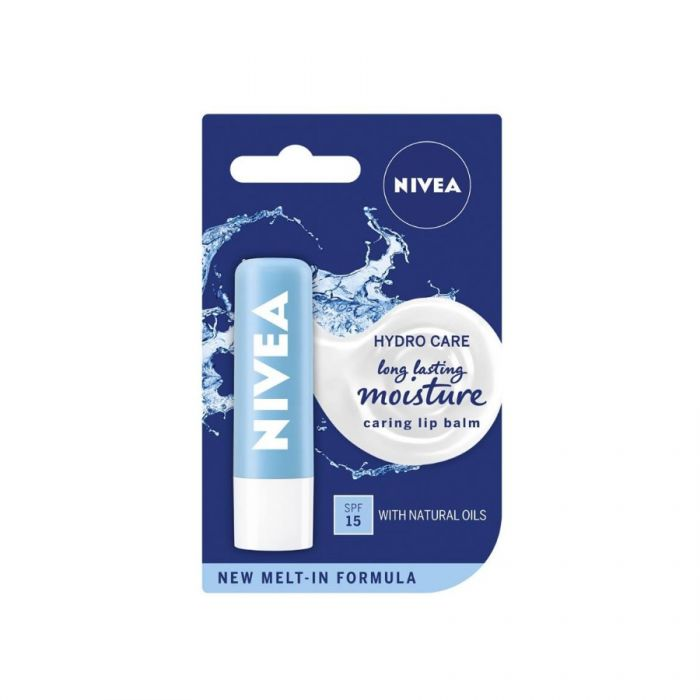 Nivea Hydro Care Lip Balm 4.8G <br> Pack size: 12 x 4.8g <br> Product code: 267483