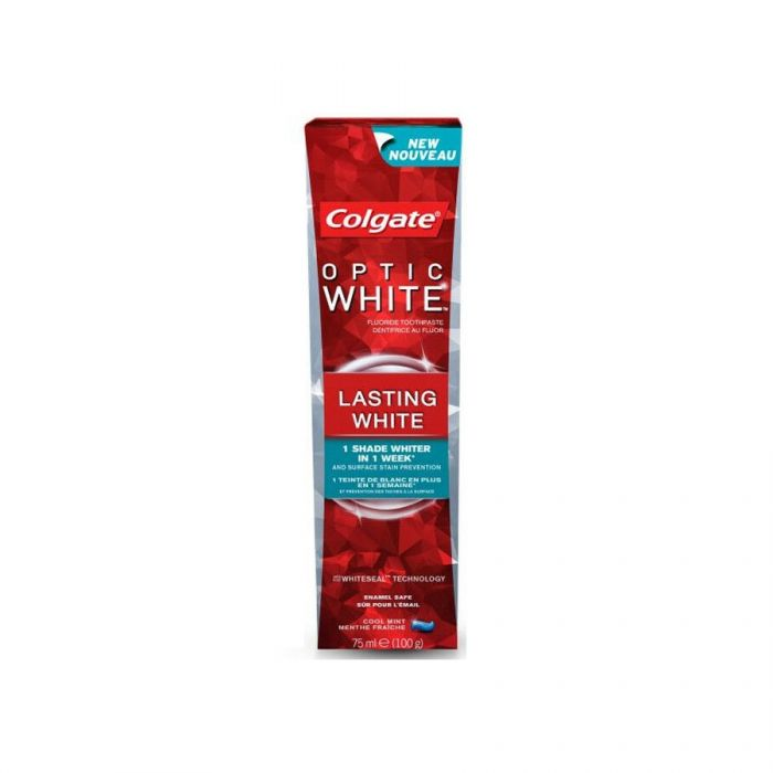Colgate Optic White Toothpaste Lasting White 75Ml <br> Pack size: 12 x 75ml <br> Product code: 282604