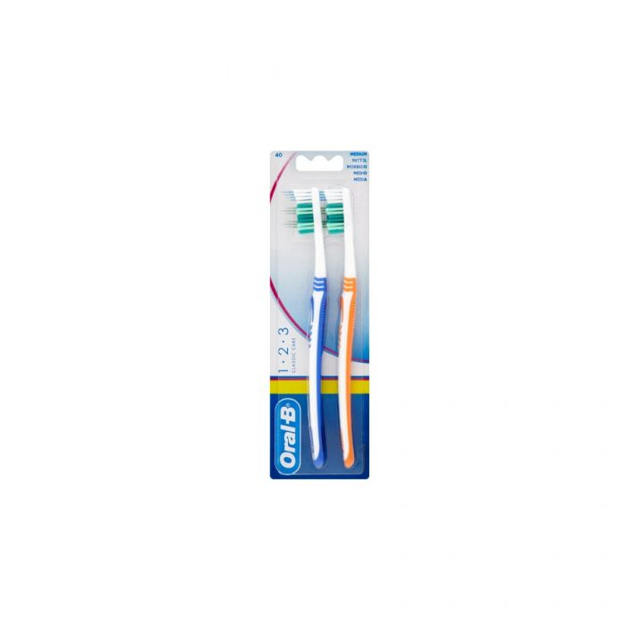 Oral B Classic 40 Toothbrush Medium (Twin Pack) <br> Pack size: 12 x 2 <br> Product code: 302691
