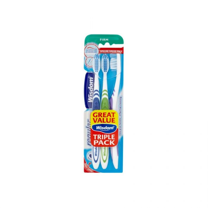 Wisdom Regular Fresh Toothbrush Firm (Triple Pack) <br> Pack size: 6 x 3 <br> Product code: 304201