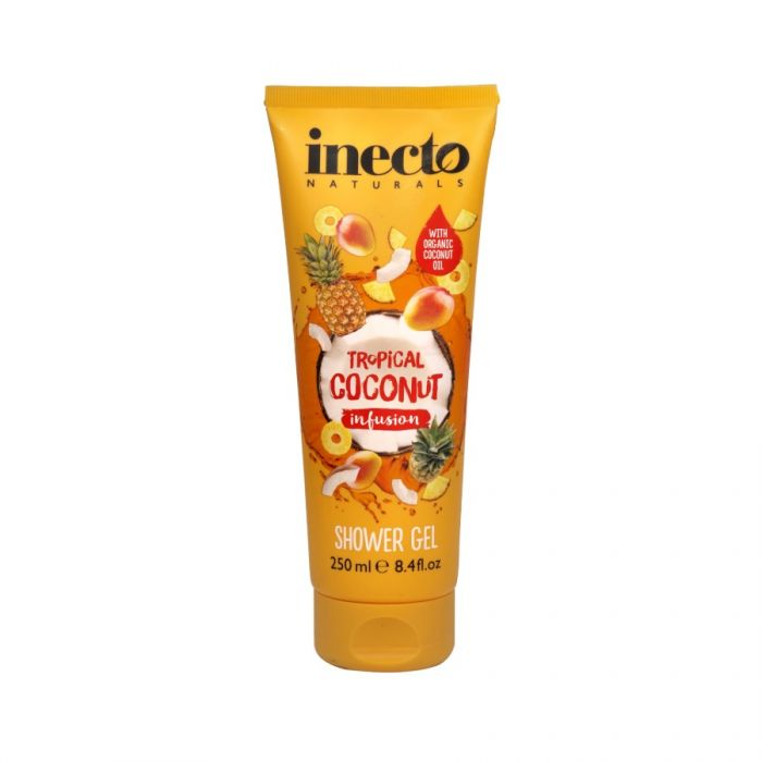 Inecto Naturals Tropical Coconut Infusion Shower Gel 250Ml <br> Pack size: 6 x 250ml <br> Product code: 313951
