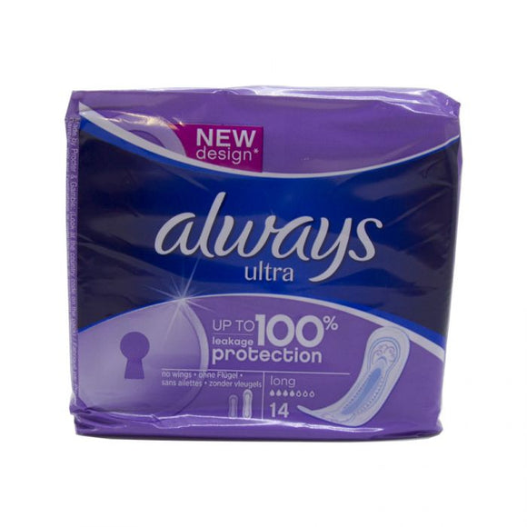 Always Ultra Long 14S <br> Pack size: 12 x 14 <br> Product code: 340491