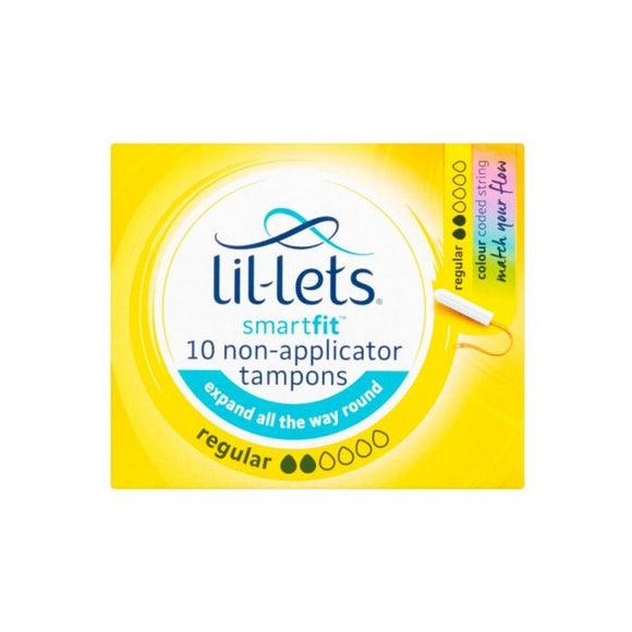 Lil-Lets Tampons Regular 10S <br> Pack size: 8 x 10s <br> Product code: 344190