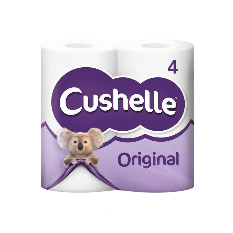 Cushelle Toilet Rolls White 4S <br> Pack Size: 10 x 4 <br> Product code: 421320