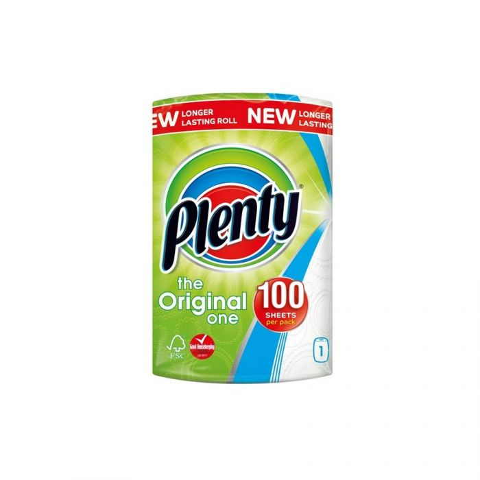 Plenty Kitchen Roll White <br> Pack size: 6 x 1 <br> Product code: 421428