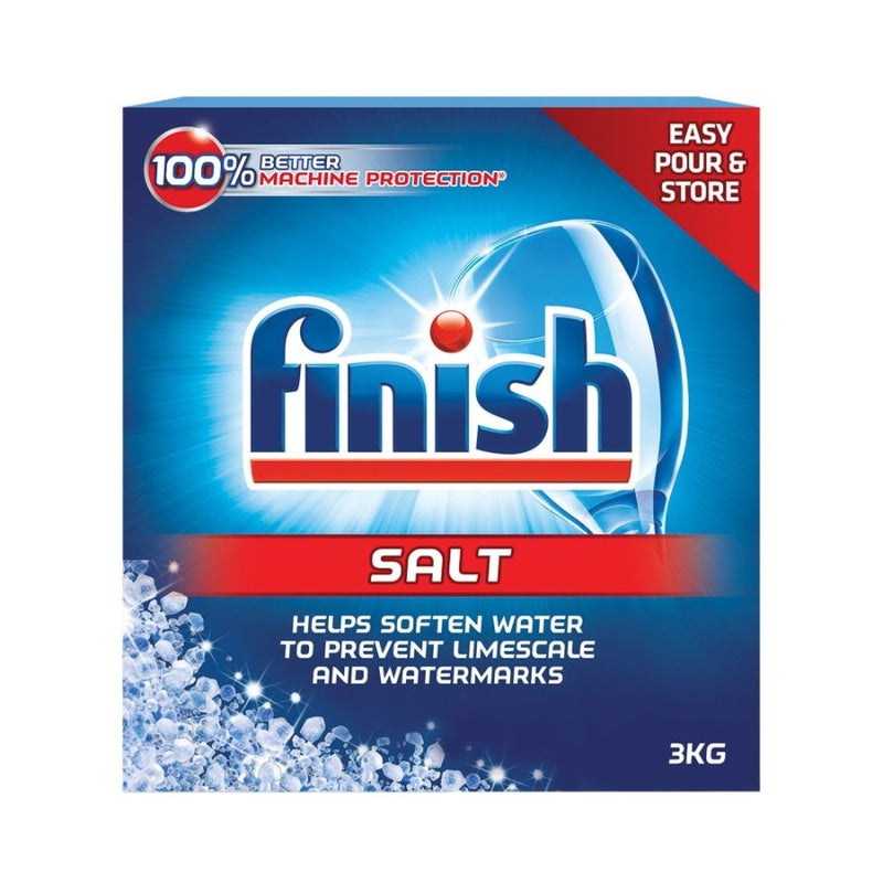 Finish Dishwasher Salt 3Kg <br> Pack Size: 6 x 3kg <br> Product code: 472752