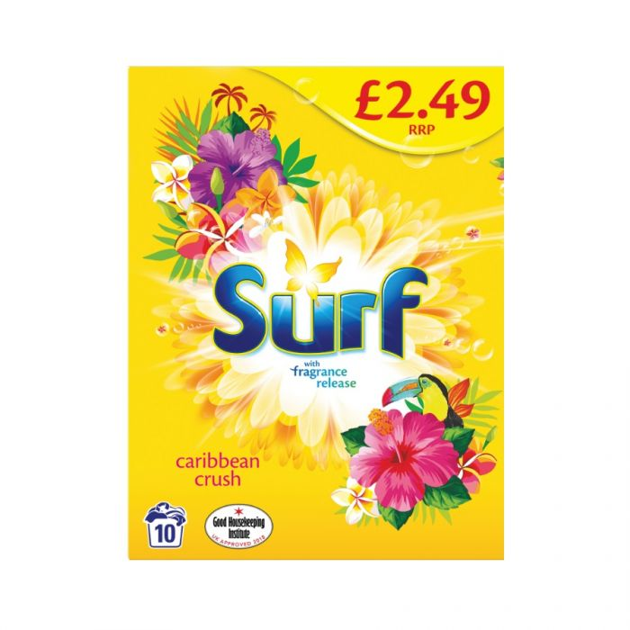 Surf Powder Carribean Crush 10 Washes 700G (Pm £2.49) <br> Pack size: 7 x 700g <br> Product code: 487147